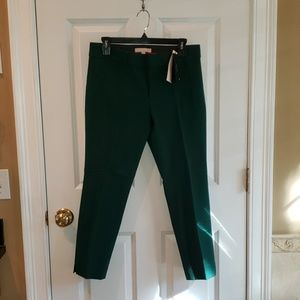 Banana Republic Sloan Fit Emerald Green Crop Pant